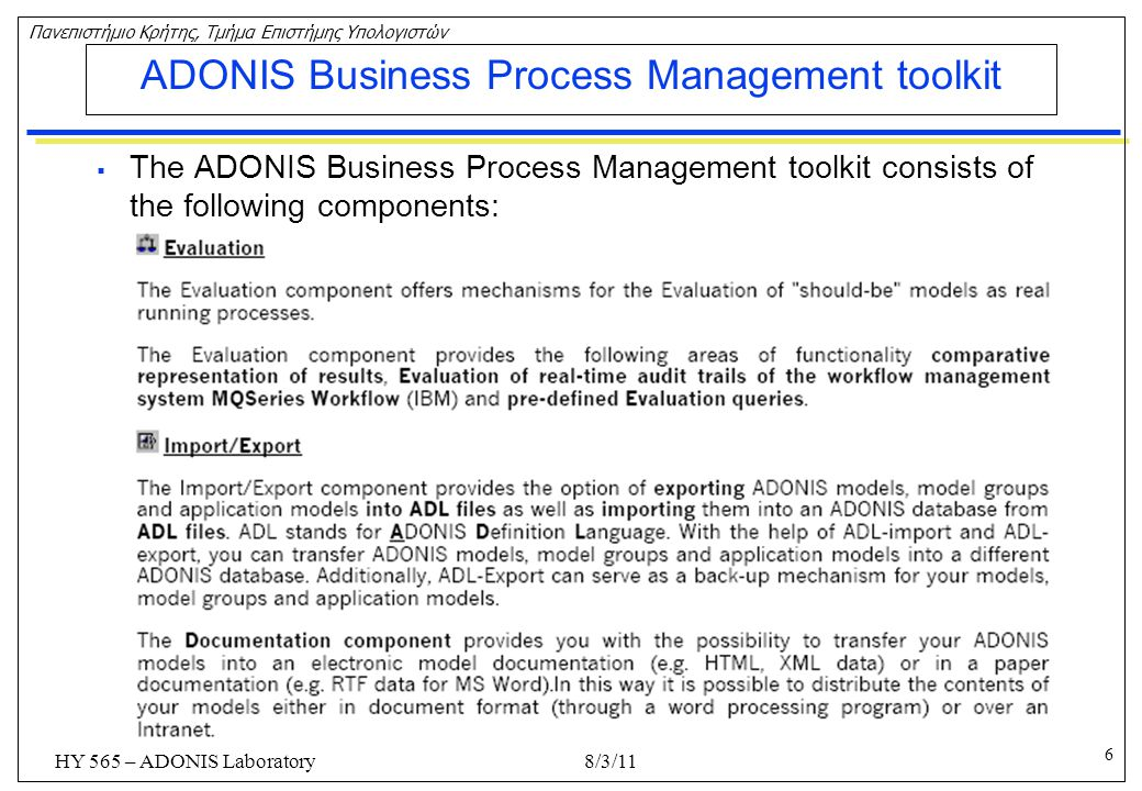 ADONIS Business Process Management toolkit