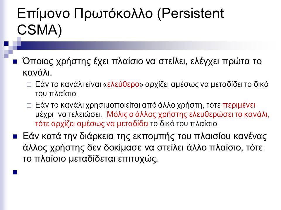 Επίμονο Πρωτόκολλο (Persistent CSMA)