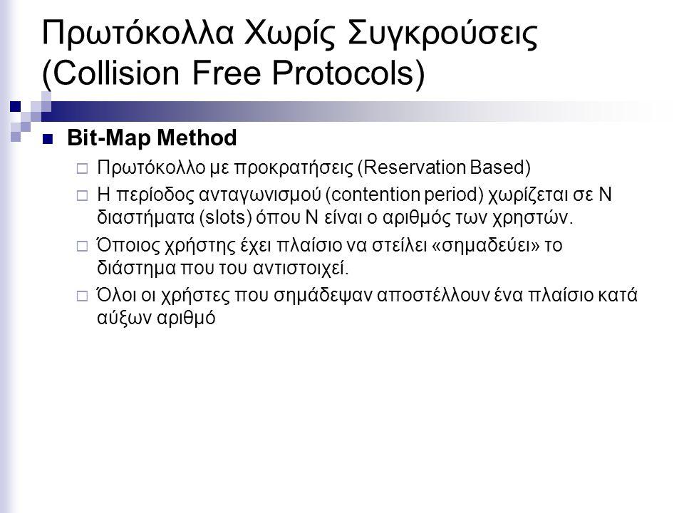 Πρωτόκολλα Χωρίς Συγκρούσεις (Collision Free Protocols)