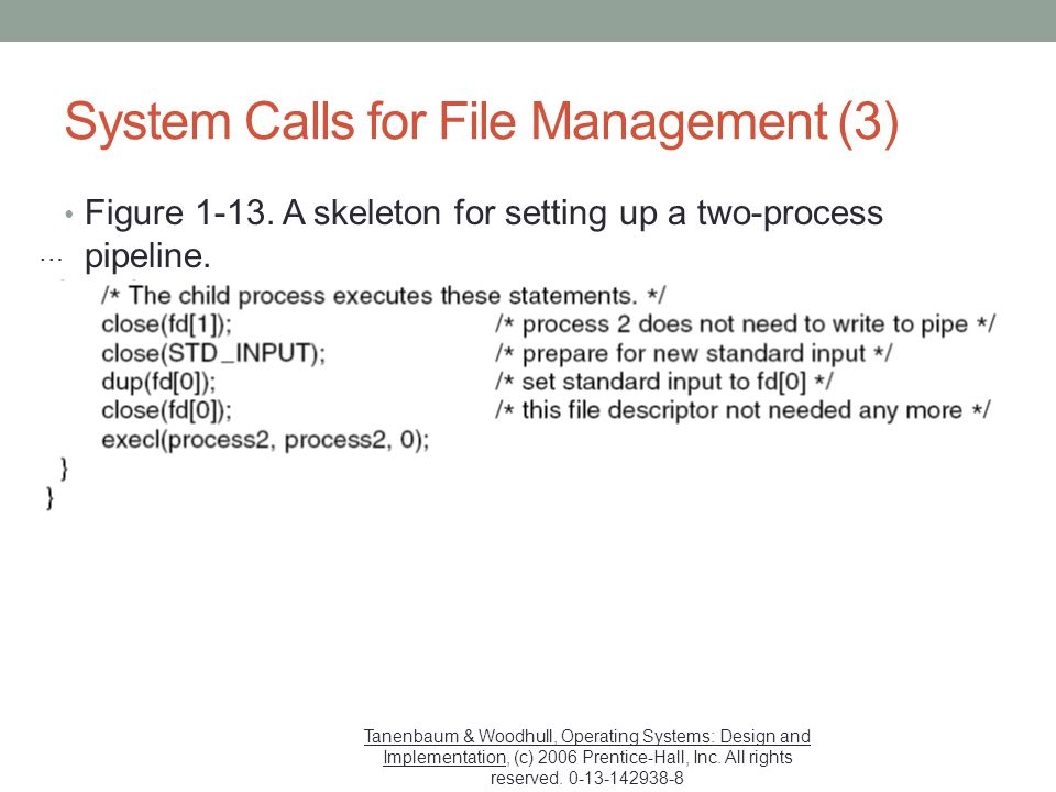 System Calls for File Management (3)