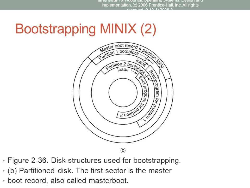 Bootstrapping MINIX (2)