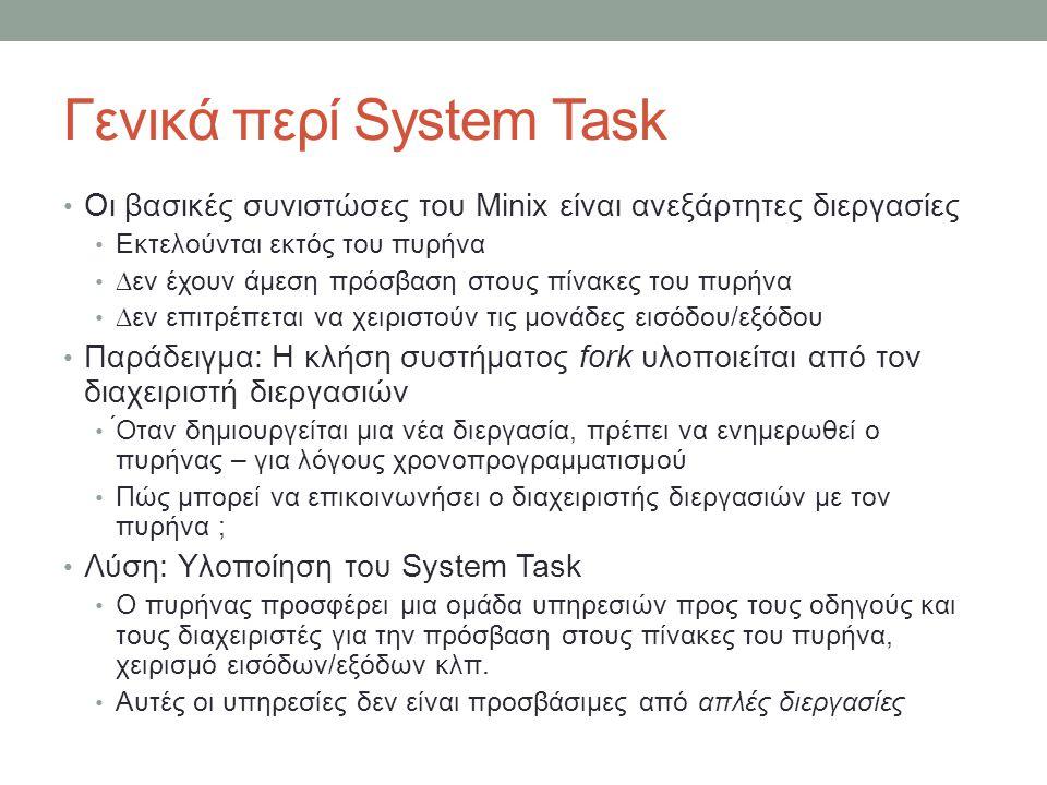 Γενικά περί System Task