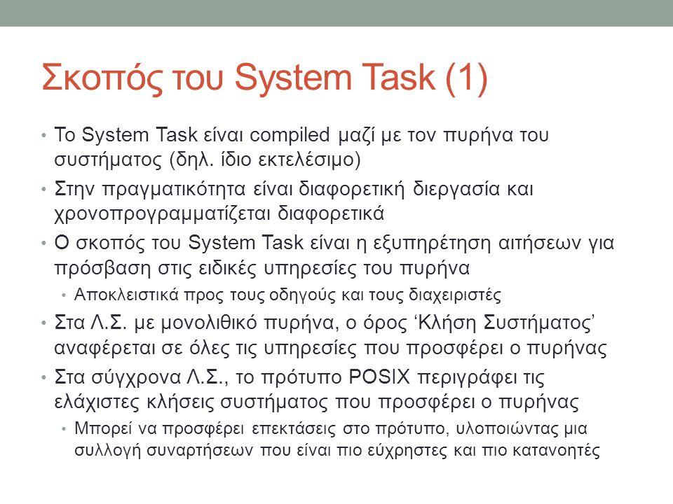 Σκοπός του System Task (1)