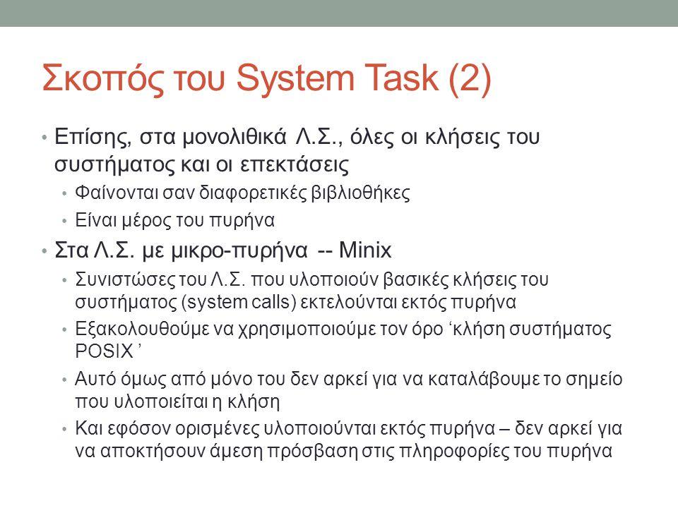 Σκοπός του System Task (2)