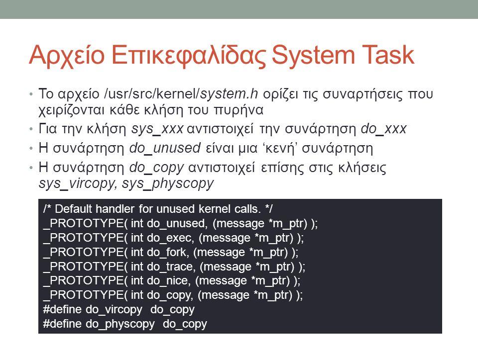 Αρχείο Επικεφαλίδας System Task