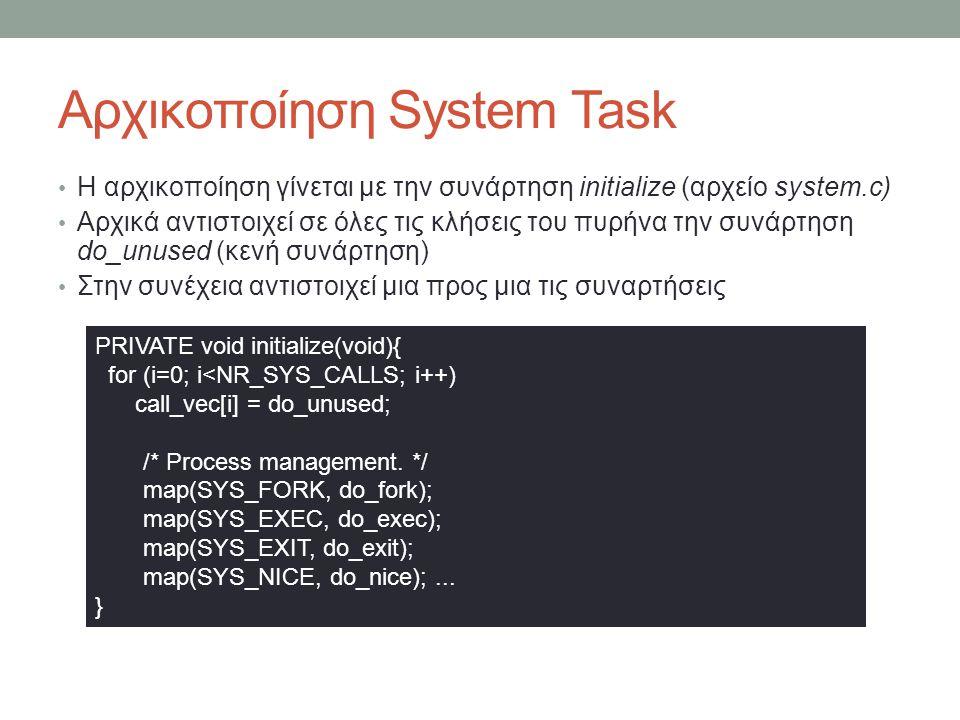 Αρχικοποίηση System Task