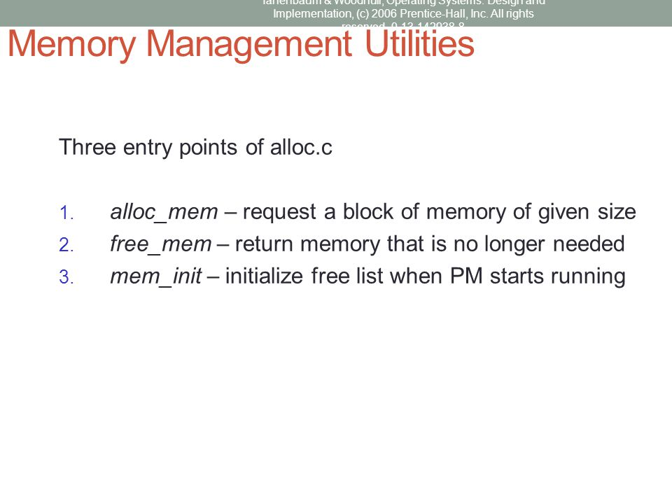 Memory Management Utilities
