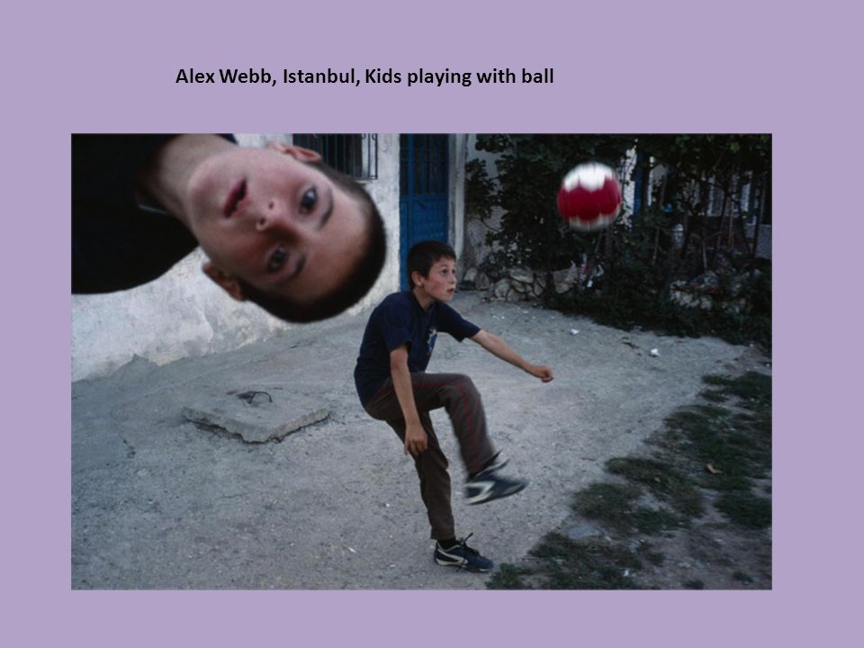 Alex Webb, Istanbul, Kids playing with ball