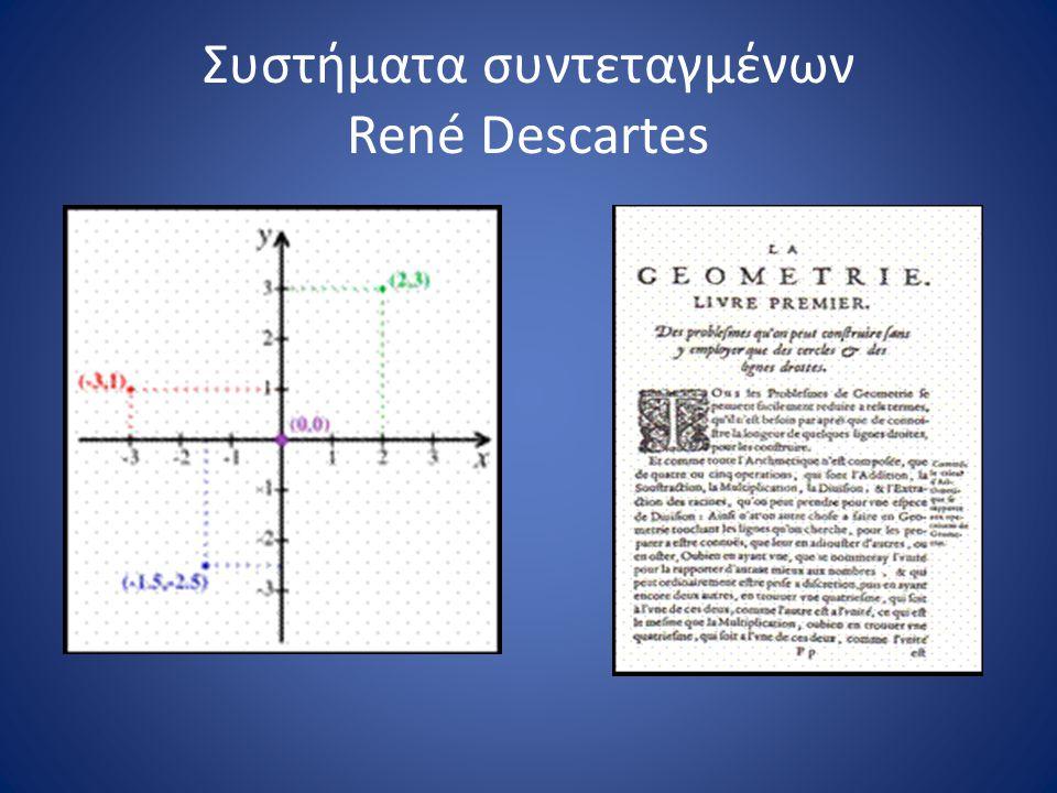 Συστήματα συντεταγμένων René Descartes
