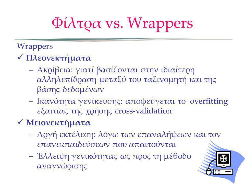 Φίλτρα vs. Wrappers Wrappers Πλεονεκτήματα