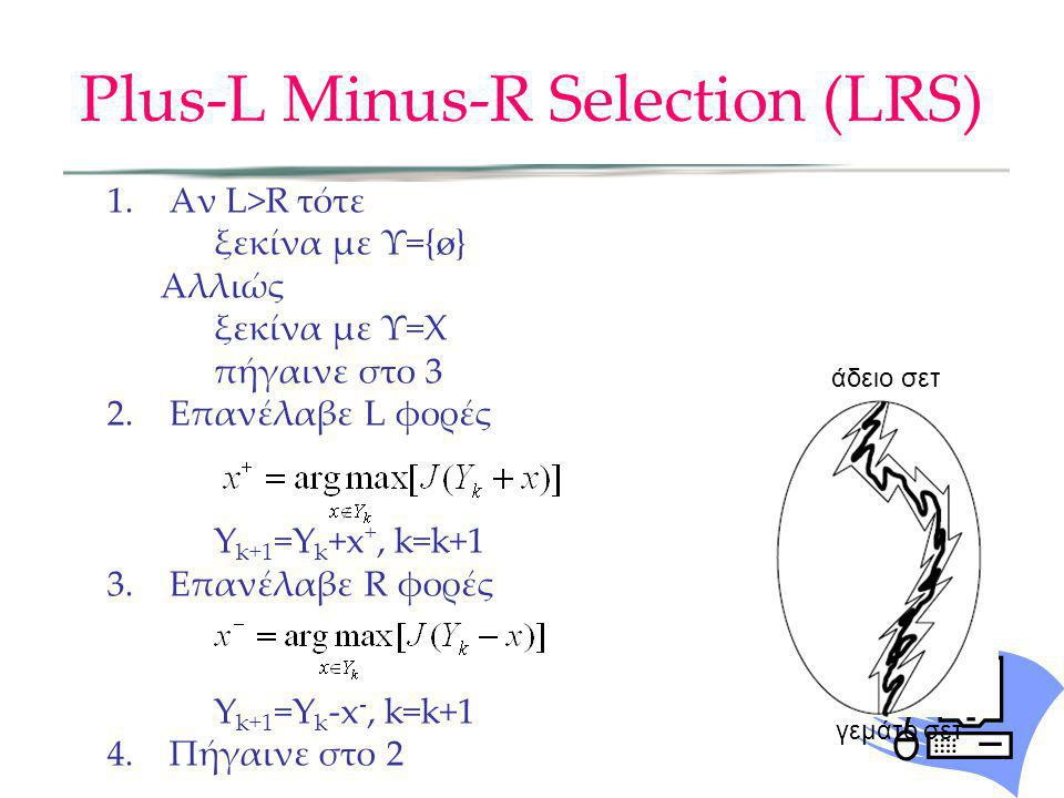Plus-L Minus-R Selection (LRS)