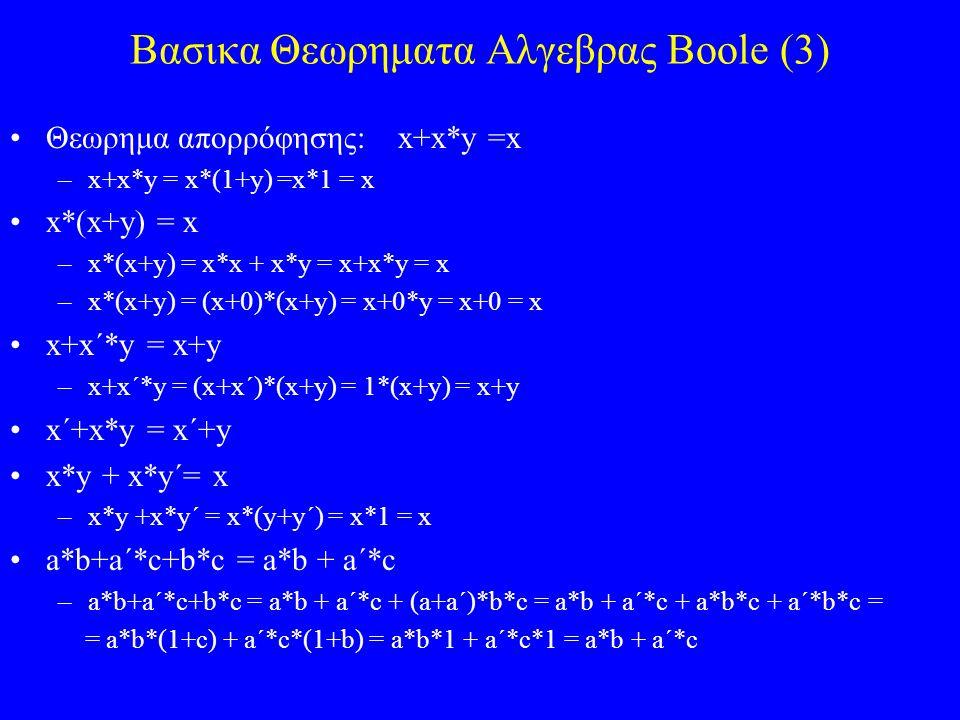 Βασικα Θεωρηματα Αλγεβρας Boole (3)