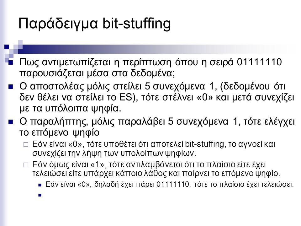 Παράδειγμα bit-stuffing