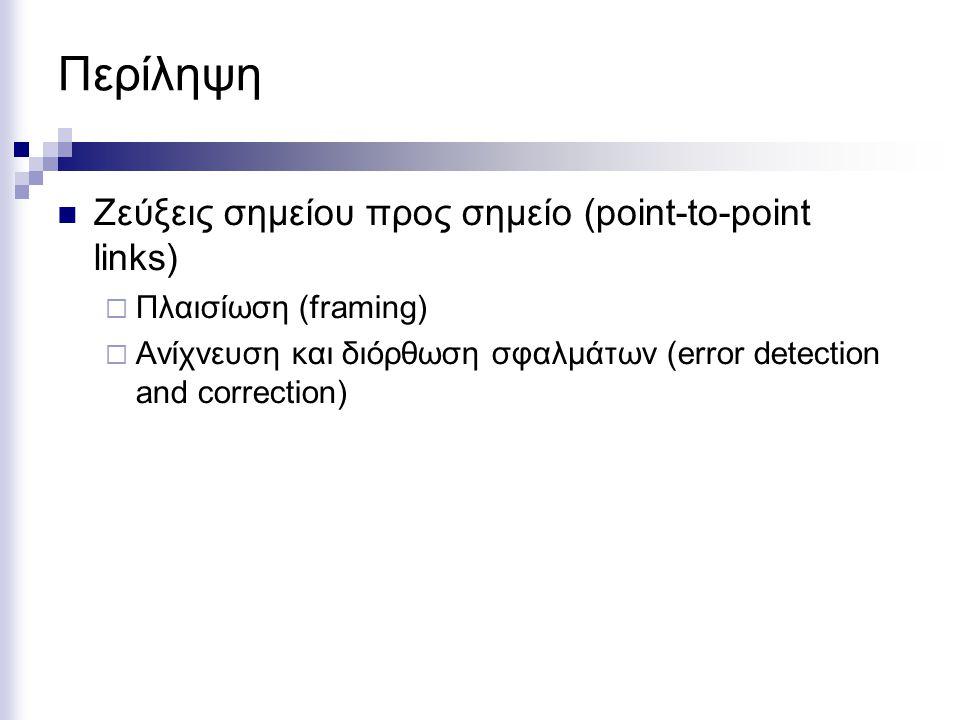 Περίληψη Ζεύξεις σημείου προς σημείο (point-to-point links)