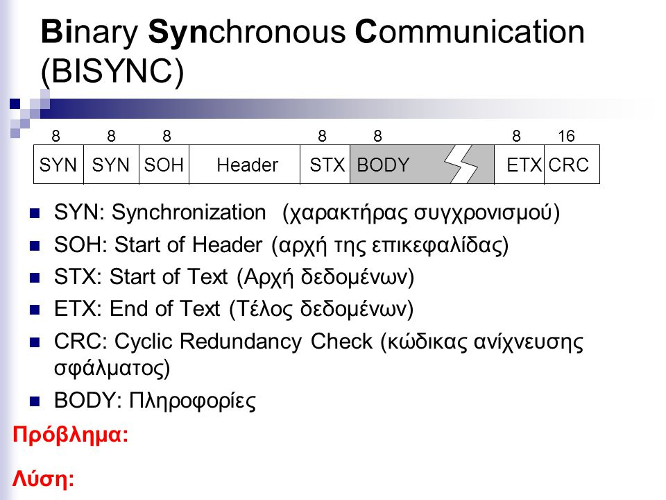 Binary Synchronous Communication (BISYNC)