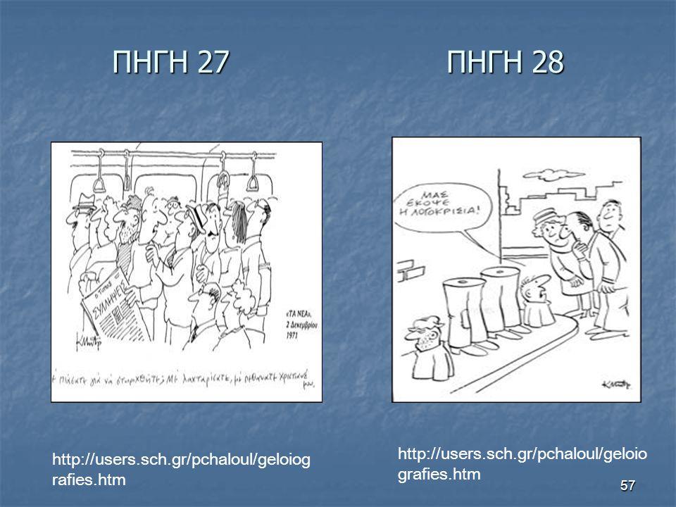 ΠΗΓΗ 27 ΠΗΓΗ 28 http://users.sch.gr/pchaloul/geloiografies.htm