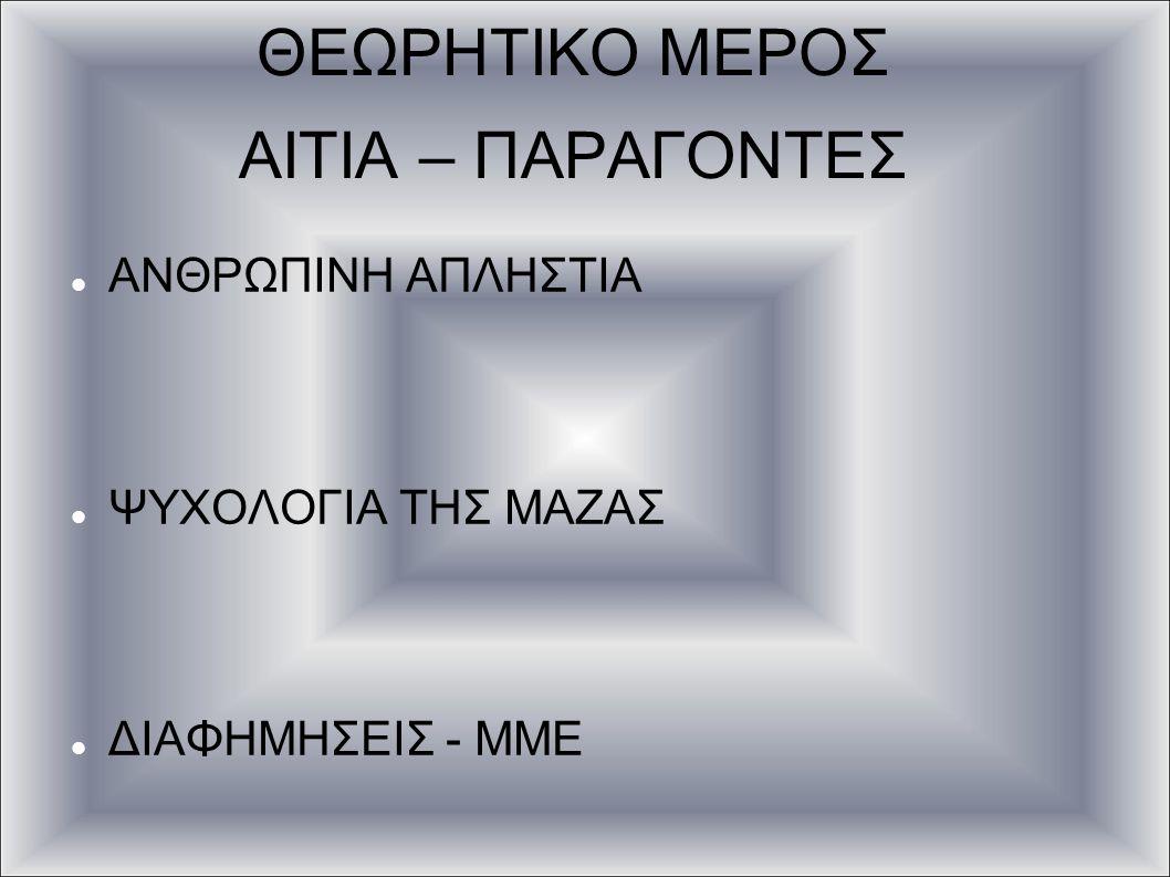 ΘΕΩΡΗΤΙΚΟ ΜΕΡΟΣ ΑΙΤΙΑ – ΠΑΡΑΓΟΝΤΕΣ