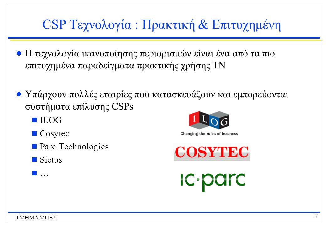 CSP Tεχνολογία : Πρακτική & Επιτυχημένη