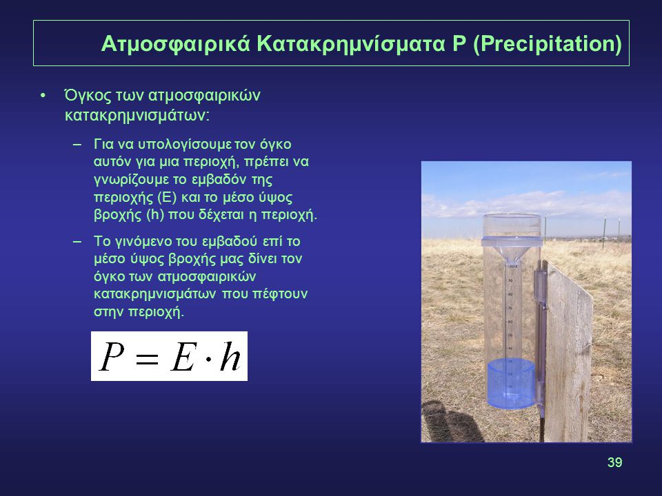 Ατμοσφαιρικά Κατακρημνίσματα P (Precipitation)