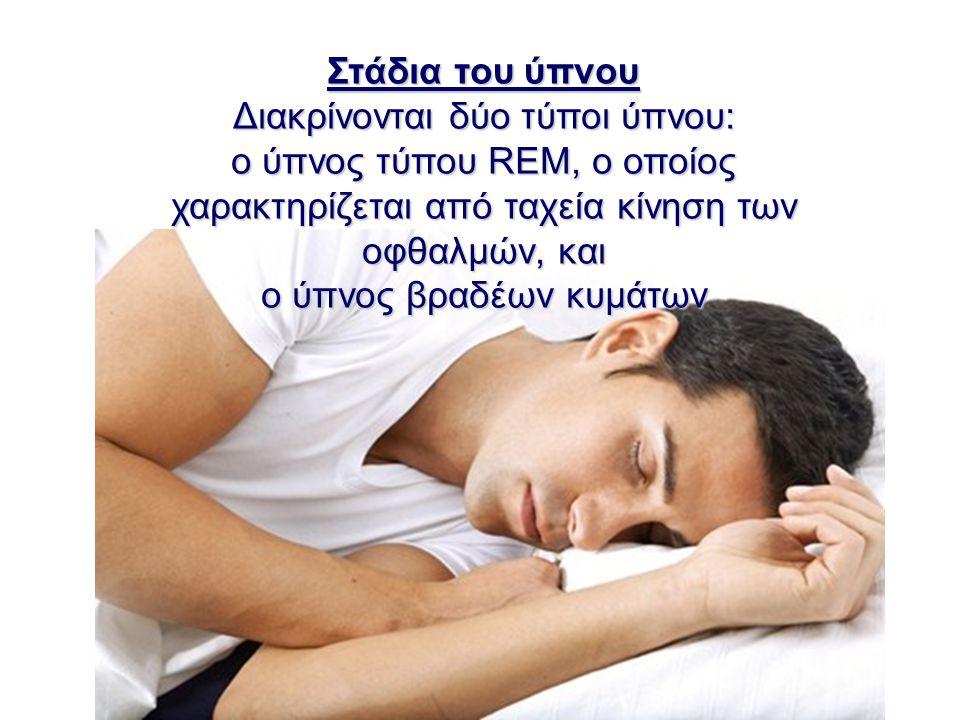 Διακρίνονται δύο τύποι ύπνου: