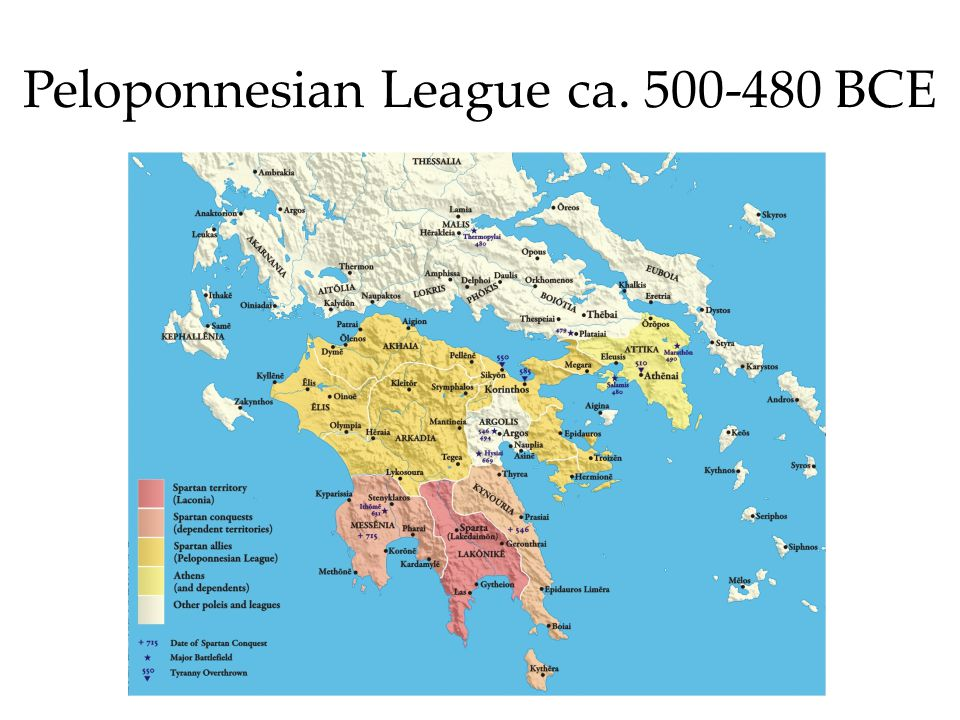 Peloponnesian League ca. 500-480 BCE