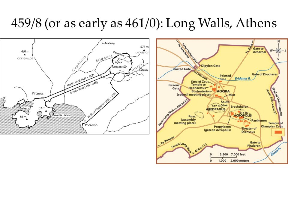 459/8 (or as early as 461/0): Long Walls, Athens