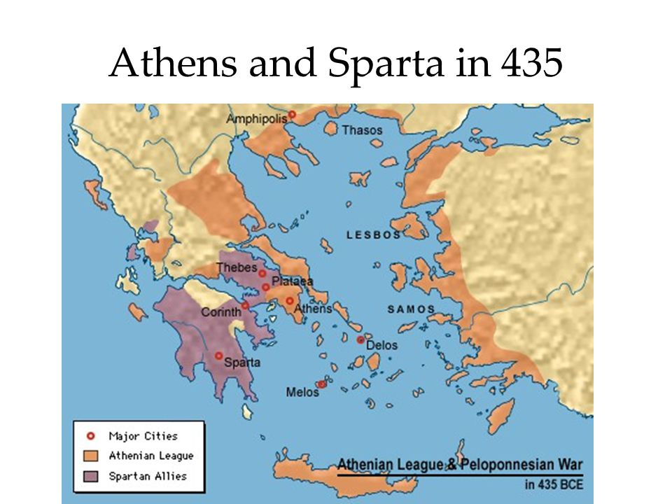 Athens and Sparta in 435
