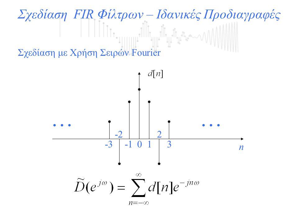Σχεδίαση FIR Φίλτρων – Ιδανικές Προδιαγραφές