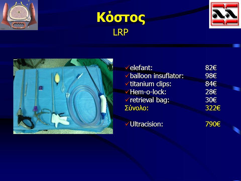 Κόστος LRP elefant: 82€ balloon insuflator: 98€ titanium clips: 84€