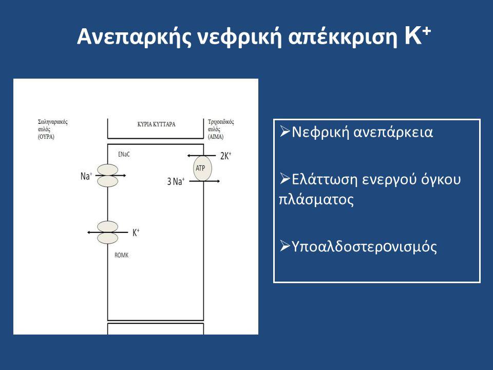 Ανεπαρκής νεφρική απέκκριση Κ+