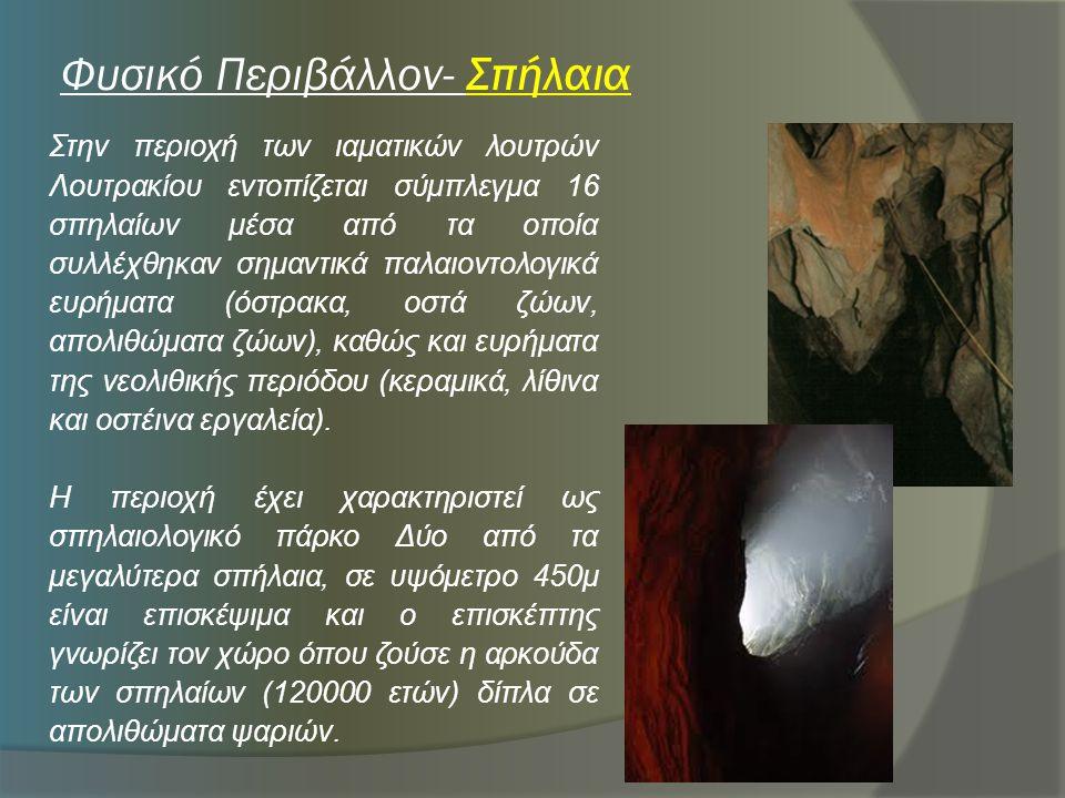 Φυσικό Περιβάλλον- Σπήλαια