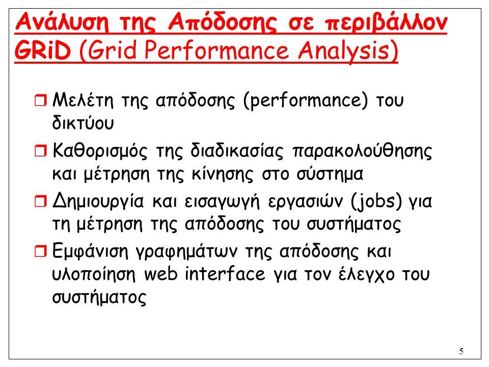 Ανάλυση της Απόδοσης σε περιβάλλον GRiD (Grid Performance Analysis)