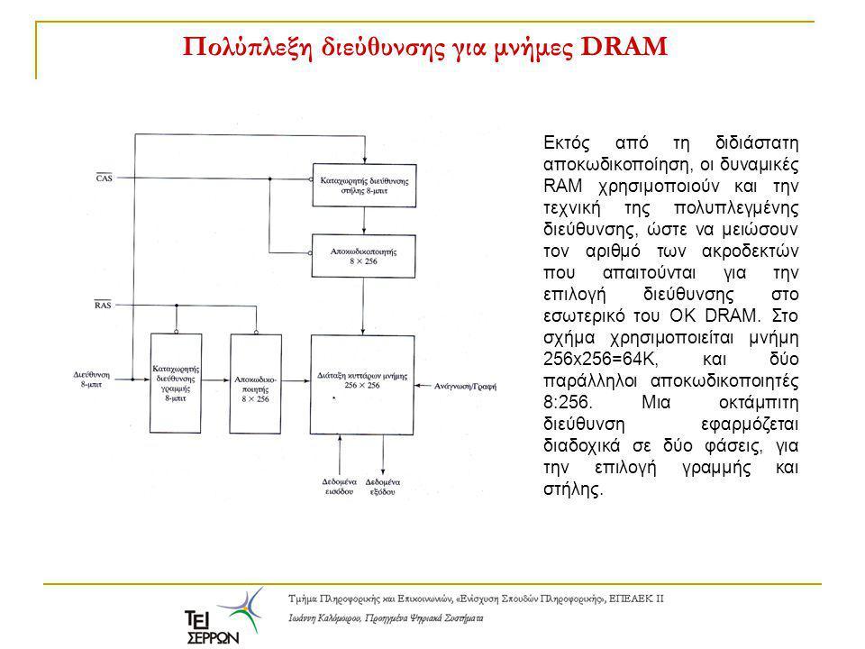 Πολύπλεξη διεύθυνσης για μνήμες DRAM