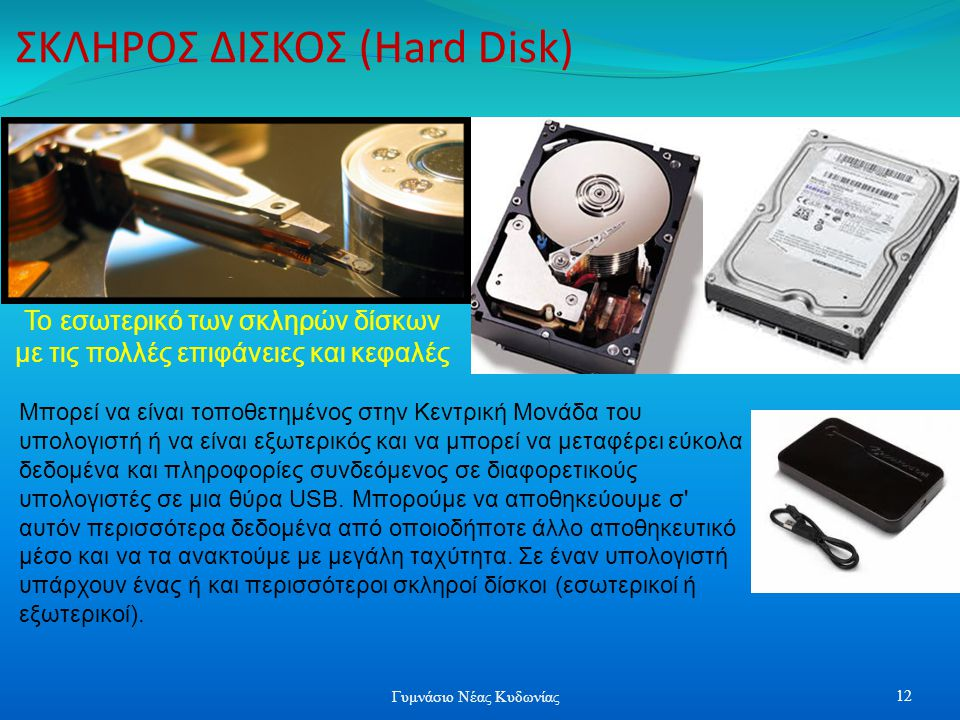 ΣΚΛΗΡΟΣ ΔΙΣΚΟΣ (Hard Disk)