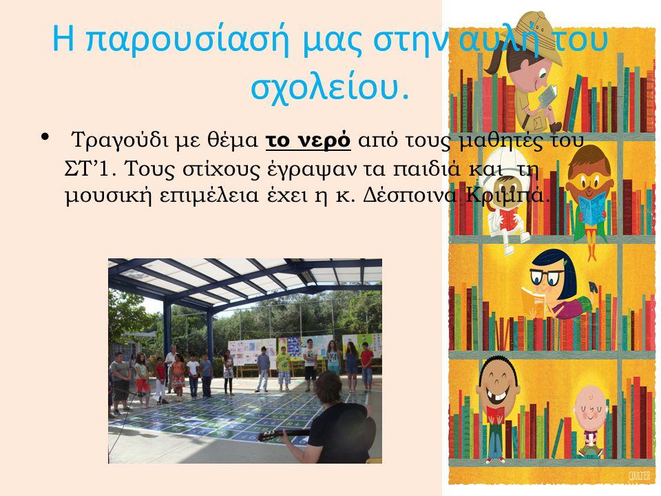 Η παρουσίασή μας στην αυλή του σχολείου.