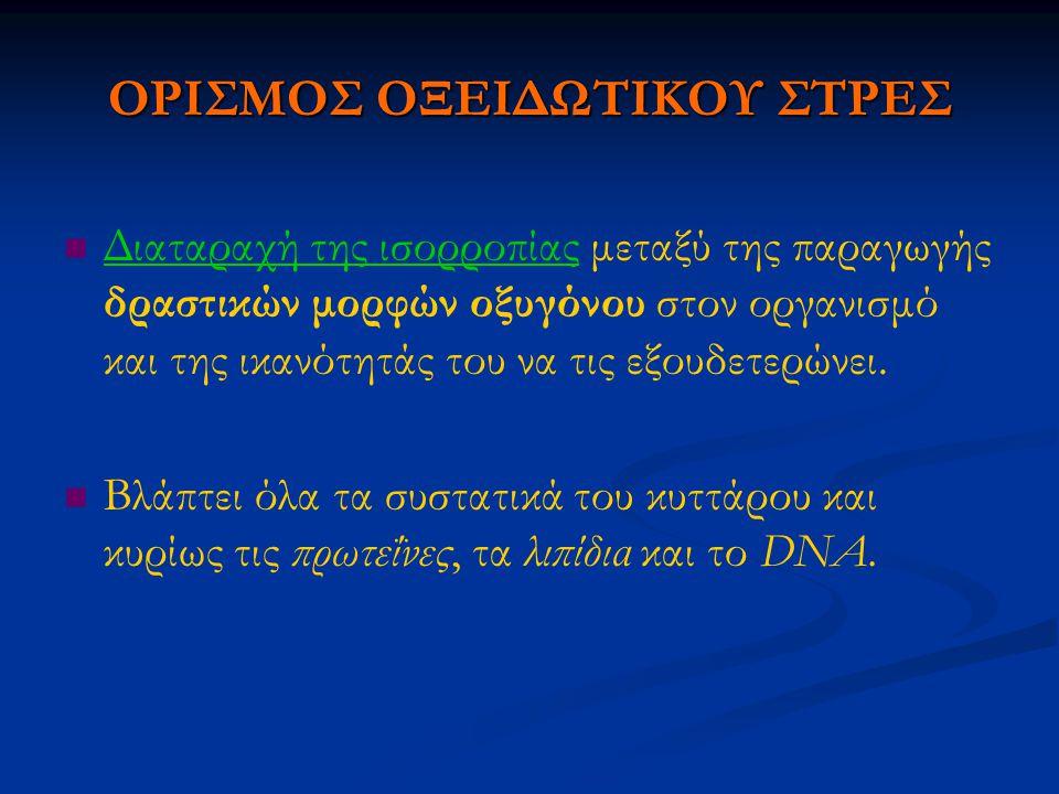 ΟΡΙΣΜΟΣ ΟΞΕΙΔΩΤΙΚΟΥ ΣΤΡΕΣ