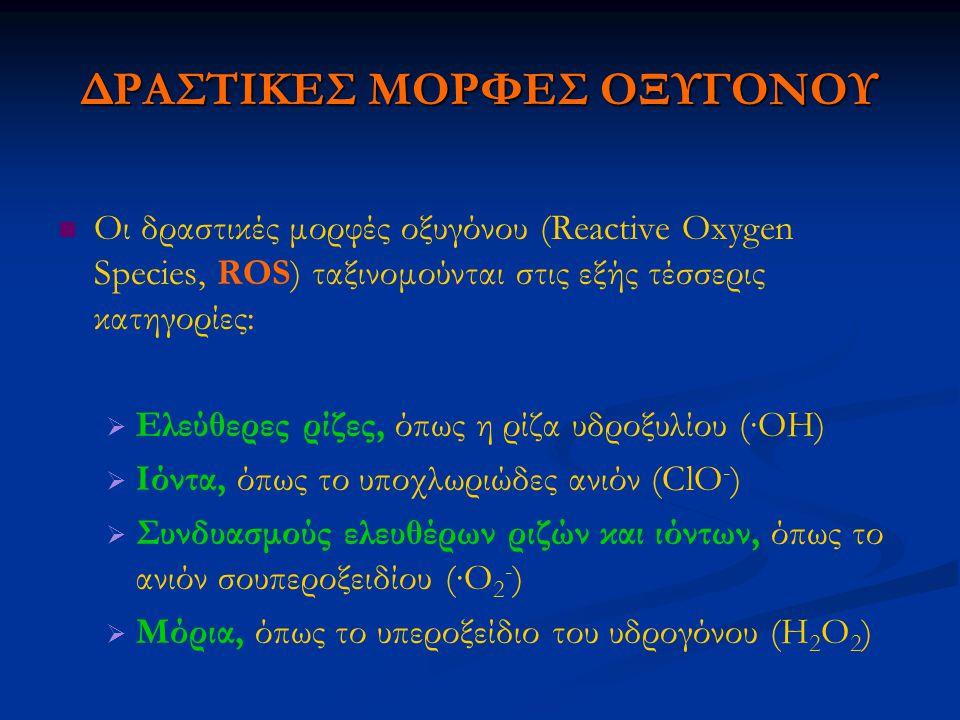 ΔΡΑΣΤΙΚΕΣ ΜΟΡΦΕΣ ΟΞΥΓΟΝΟΥ