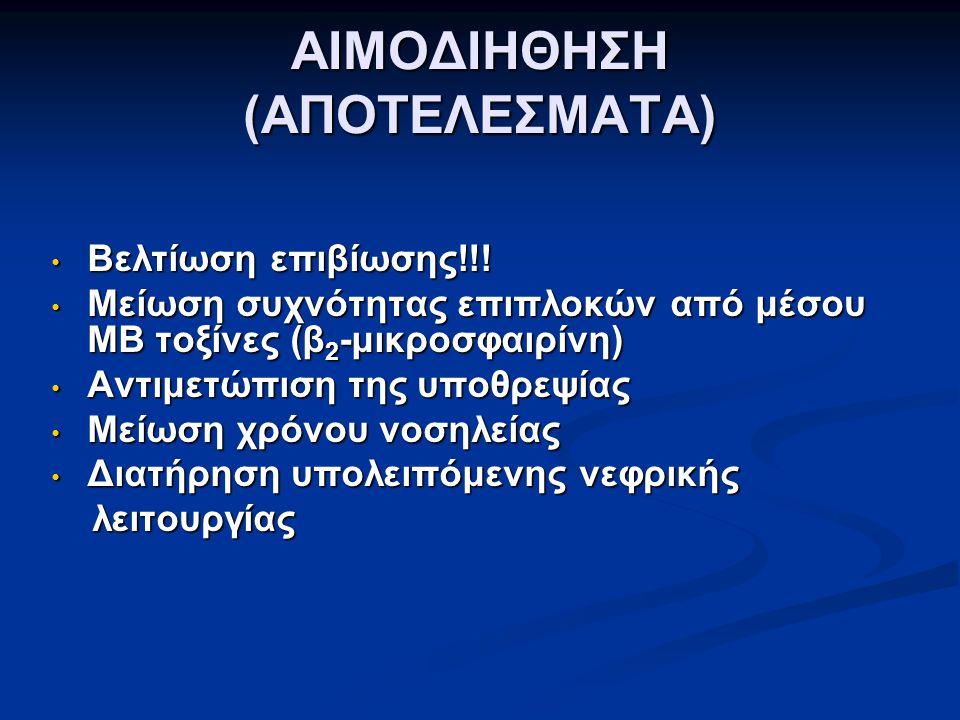 ΑΙΜΟΔΙΗΘΗΣΗ (ΑΠΟΤΕΛΕΣΜΑΤΑ)