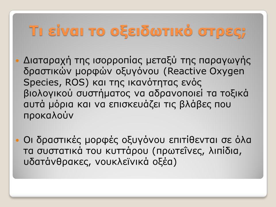 Τι είναι το οξειδωτικό στρες;
