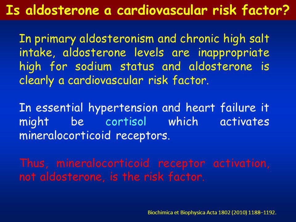 Is aldosterone a cardiovascular risk factor