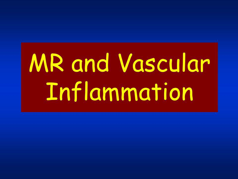 MR and Vascular Inflammation