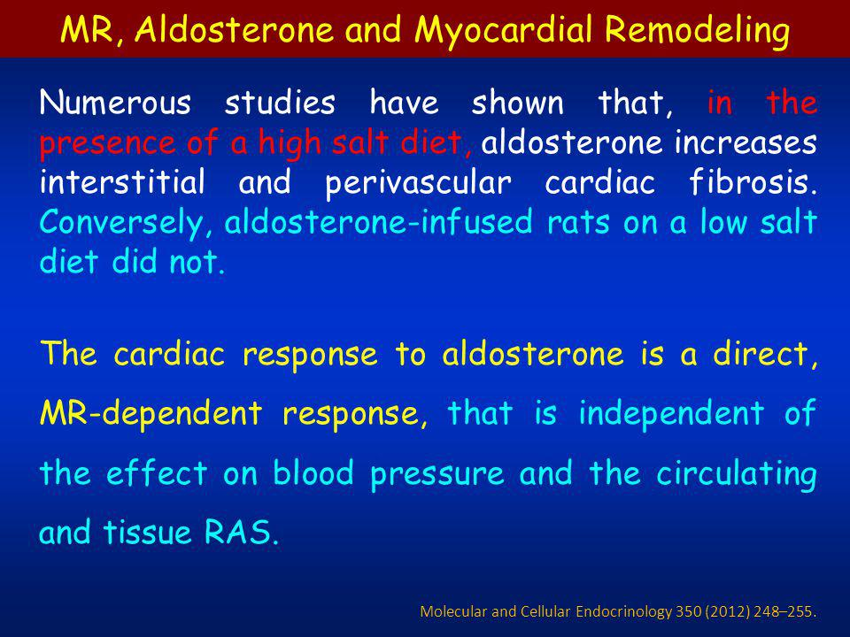 MR, Aldosterone and Myocardial Remodeling
