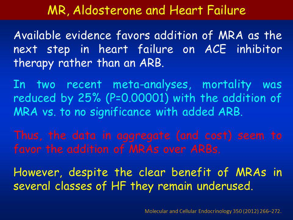 MR, Aldosterone and Heart Failure