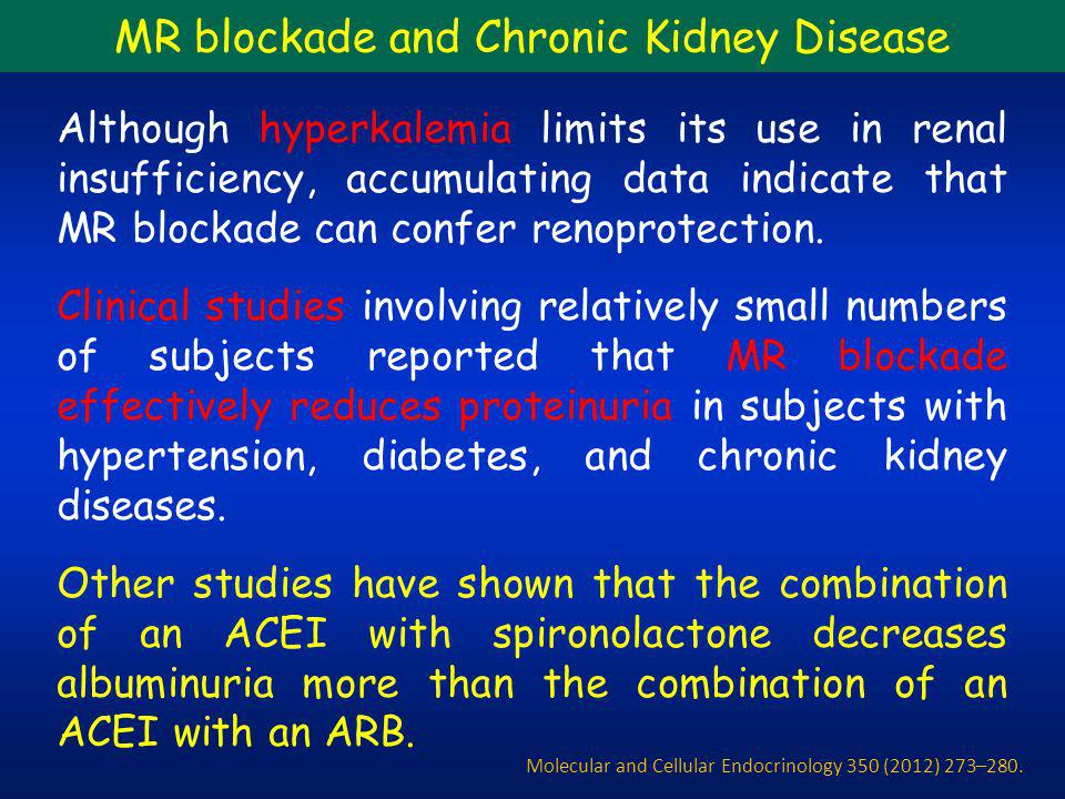MR blockade and Chronic Kidney Disease