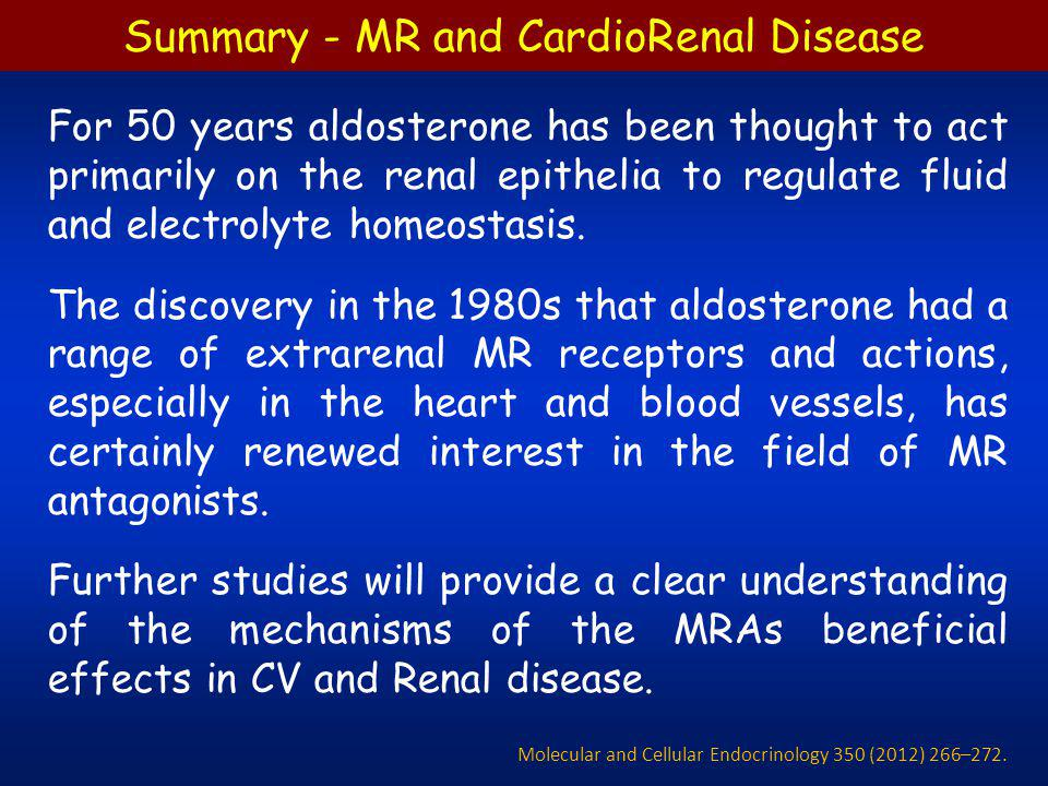 Summary - MR and CardioRenal Disease