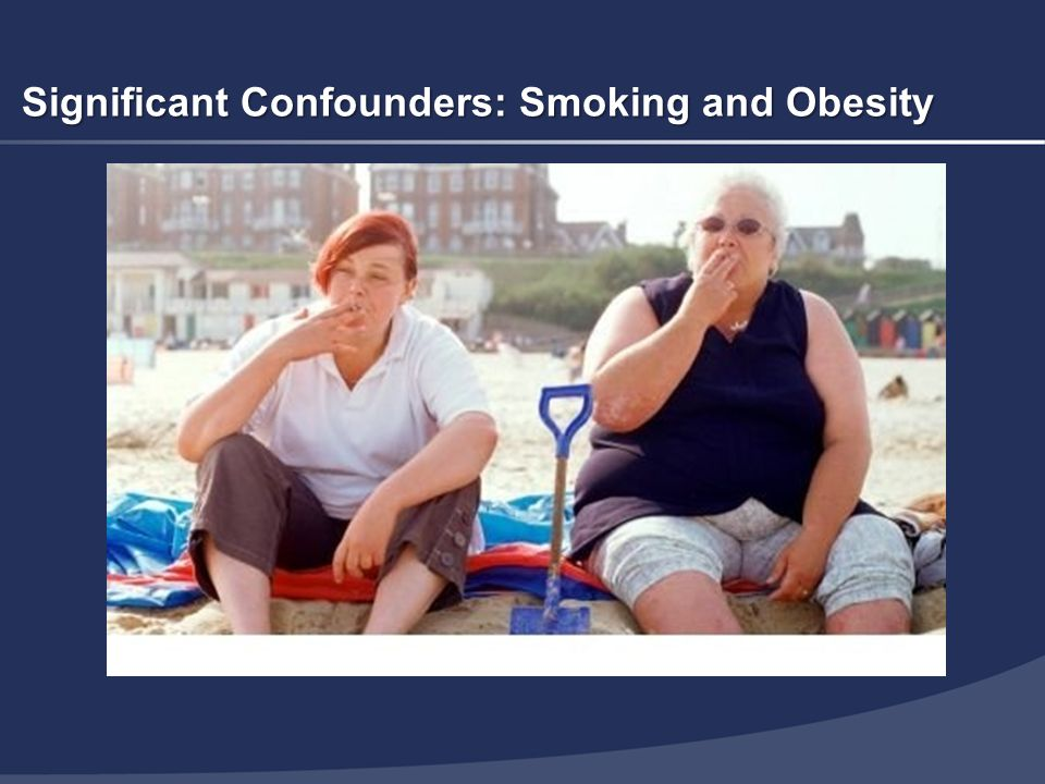 Significant Confounders: Smoking and Obesity