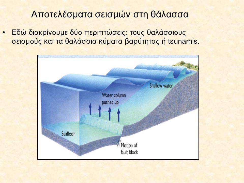 Αποτελέσματα σεισμών στη θάλασσα