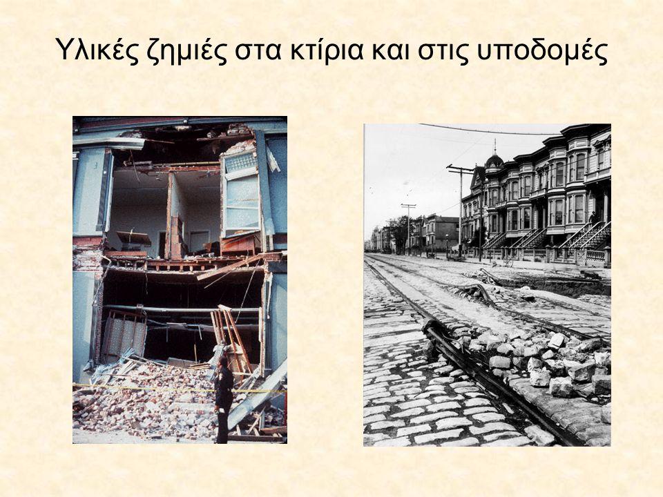 Υλικές ζημιές στα κτίρια και στις υποδομές