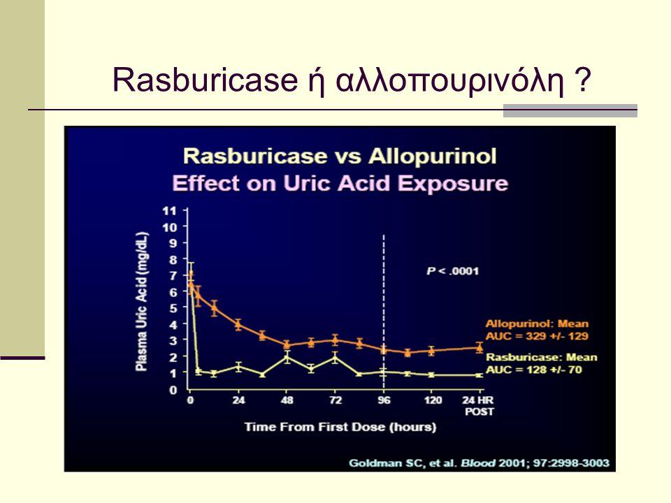 Rasburicase ή αλλοπουρινόλη