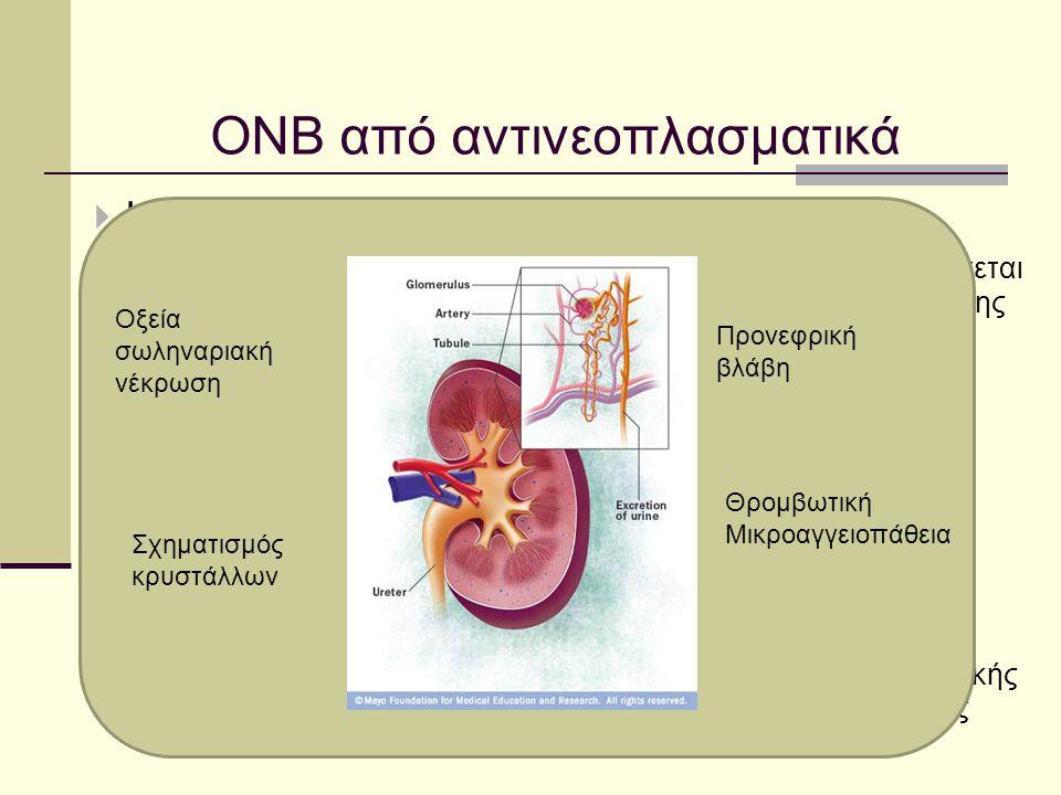ΟΝΒ από αντινεοπλασματικά